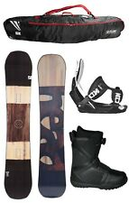 2018 HEAD Daymaker Wood 159 WIDE Snowboard+Flow Bindings+Flow BOA Boots+BAG NEW