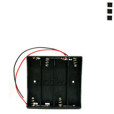 """4 x Holder Case box for 4 18650 17650 Li-ion Battery with 6"""" Wire Lead"""