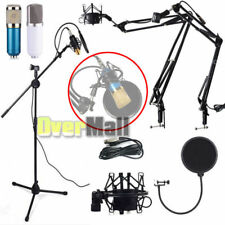 Studio Broadcasting Condenser Microphone + Shock Mount + Arm Stand + Pop Filter