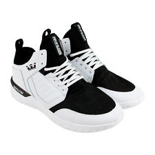 Supra Method Mens White Nubuck High Top Lace Up Sneakers Shoes