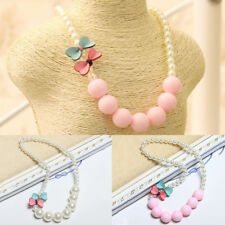 Pearl Gift Jewelry Cute Girls Bow-knot Fashion Necklace Beautiful New Children