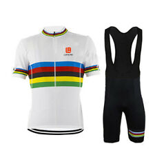 New Sports Cycling Bike Short Sleeve Clothing Set Bicycle Men Jersey Bib Shorts