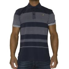 New Mens Voi Jeans Designer Tee Shirt Link Navy Polo