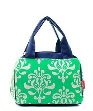 Mint Green Bloom  Insulated Lunch Tote Bag-- Lunch Bag-Back to school Item!