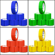 """2"""" x 55 Yds Color Carton Sealing Packing Tape - 6 Colors & Choose Your Rolls"""
