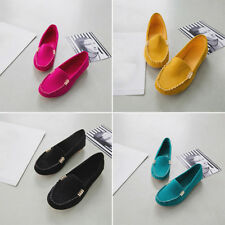 Womens Ladies Casual Soft Ballerina Moccasin Suede Slip On Flat Loafer Shoes NEW