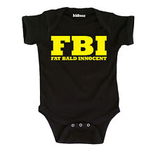 FBI Fat Bald Innocent Cute Baby Funny Novelty-Baby One Piece