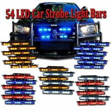 Zone Tech 54 LED Car Emergency Grille Strobe Lights Amber White Blue Red White