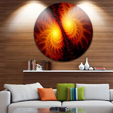 Designart 'Fiery Wings of Dragon' Abstract Digital Art Disc Metal Artwork