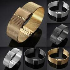 Watch Mesh Band Strap Stainless Steel Double Clasp Bracelet Buckle 18/20/22/24mm