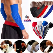 Honneycomb Elbow Support Brace Compression Sleeve Basketball Tennis Arm Wrap SFC
