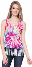 Junior Boho Hippie Tie Dye Tank Top