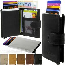 FIGURETTA Leather Aluminium Purse Credit card case Wallet Purse