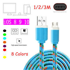 Strong Fabric Braided Fast Charger Data Sync Cable For iPhone 5 5S SE 6 6S 7 7+