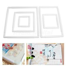 1Pc Rectangle Clip Plastic Embroidery Frame Cross Stitch Hoop Stand Lap Tool