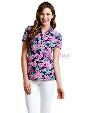 NWT Lilly Pulitzer Classic Trophy Polo Bright Navy Cherry Picker XS
