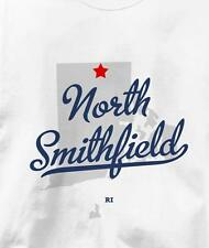 North Smithfield, Rhode Island RI MAP Souvenir T Shirt All Sizes & Colors