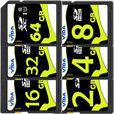 Super Fast 32GB 64GB SD SDHC SDXC Memory Card Class 10 UHS-1 For Digital Camera