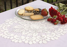 Heritage Lace Rose Doily, Choice of 2 Sizes in Offwhite or Ecru, Classic Romance