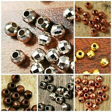 3mm 4mm 5mm 6mm Mirror Spacer Finding gold copper brass silver Plated 25pcs-44pc