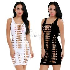 Sissy Women's Solid Bodycon Sleeveless Hollow Out Club Wear Casual Dress Fashion