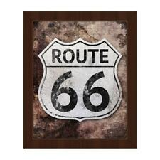 Rustic 'Route 66' Framed Canvas Wall Art