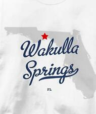 Wakulla Springs, Florida FL MAP Souvenir T Shirt All Sizes & Colors