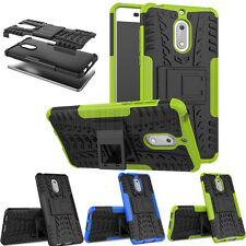 Thin Rugged Hybrid Hard Armor Rubber Case Shockproof  Stand Cover For Nokia 6