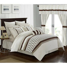 Chic Home 24-Piece Lance King Bed In a Bag Comforter Set Cream