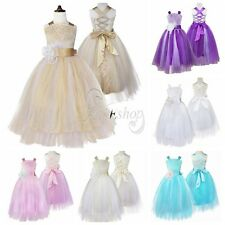 Flower Girl Christening Party Formal Pageant Party Prom Wedding Bridesmaid Dress