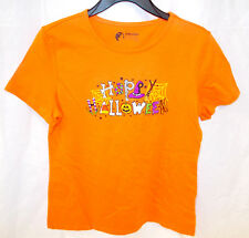 Happy Halloween Orange Short Sleeve T-shirt Womens S M L XL XXL NWT