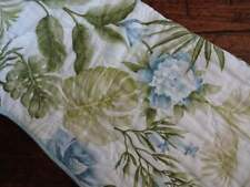 TOMMY BAHAMA BLUE Green WHITE QUILTED TROPICAL FLORAL Decorative THROW BLANKET