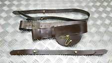 Genuine British Infantry Officers 3PC Sword Belt Brown Leather BRAND - NEW