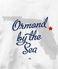 Ormond-by-the-Sea, Florida FL MAP Souvenir T Shirt All Sizes & Colors