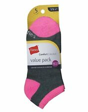 Hanes Comfort Collection Women's Low Cut Socks 5-Pack style 856/5