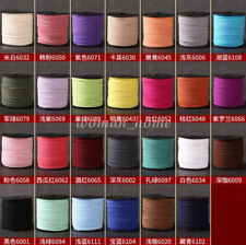 1 Roll 90M Faux Leather Suede Beading Thread 3mm Flat Cord Jewelry DIY Making