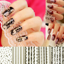 3D Sexy Lace Design Nail Art Manicure Tips Sticker Decal DIY Decorations