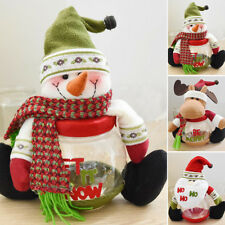 Christmas Xmas Candy Bottle Santa Claus Box Storage Jar Gift Container For Kids