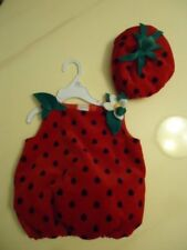 NWT INFANT'S STRAWBERRY HALLOWEEN COSTUME  3/6 MONTHS  OR 9/12 MONTHS