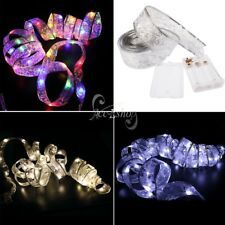 Butterfly Knot LED Ribbon String Fairy Light Battery Operated Outdoor Home Decor