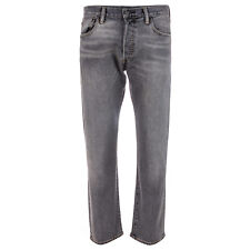 Mens Levis 501 Original Slim Fit Jeans In Grey- Button Fly- Belt Loops To Waist-