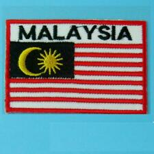 Malaysia Flag Iron on Sew Patch Applique Badge Embroidered Biker Applique Motif
