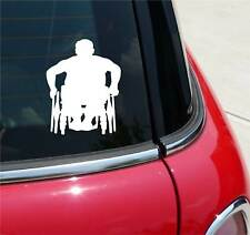 MAN IN WHEELCHAIR HANDICAPPED WHEELCHAIRS GRAPHIC DECAL STICKER ART CAR WALL