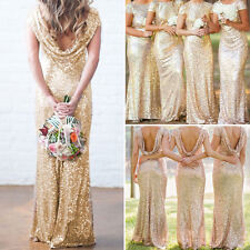 Wedding Evening Bridesmaid Party Prom Ball Gown Bodycon Fishtail Long Maxi Dress