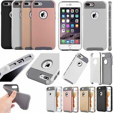 For Apple iPhone 8 & 8 PLUS NEST HYBRID HARD Case Rubber Cover +Screen Protector