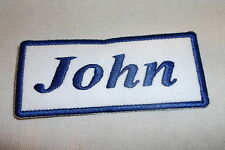 JOHN NEW EMBROIDERED  SEW / IRON ON NAME PATCH 1-1/2  X3-1/2