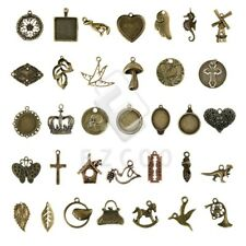 2-100pcs Antique Brass Spacer Charm Pendant Jewelry Makings 35 style Lots HC
