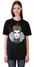 Disney Wicked Evil Queen Women's Short Sleeve Graphic T-Shirt Black Size Small