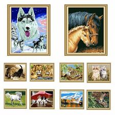 Lovely Animals DIY Paint By Number Kit Acrylic Painting On Canvas Home Ornament