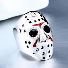 New style Mens Friday The 13th Freddy Vs.Jason 316L Stainless Steel Ring Sz 7-13